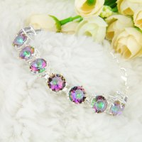 2PCS Lot High Quality Holiday Gift Trendy Round Rainbow Myst...