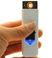 Зажигалки Портативный USB Электронная сигарета аккумулятор Непламено зажигалка ветрозащитность Бытовая некурящих Зажигалки