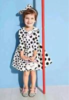 2015 Autumn Long Sleeve Cows Little Black Dotted Children Gi...