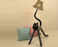 Clown cat cloth floor lamps 2pcs a bag, standing lamp creati...