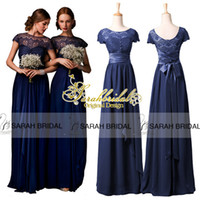Cheap New In Stock Bridesmaid Dresses 2015 Hot Navy Blue Chi...