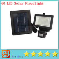 Hot!! 60 LED Solar Floodlight outdoor wall lamps garden ligh...