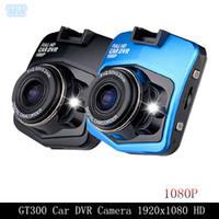 Enregistreur de vidéo de caméra de Novatek GT300 d'appareil-photo de caméra de DVR d'ENVIRON 1080p HD de DHL enregistreur 1920x1080 plein de vidéo de HD AVEC la vision de nuit de G-capteur