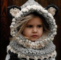 2016 Hot Fashion Children Knitted Fox Cotton Baby Animal Hat...