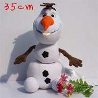 Frozen Olaf 35CM Cartoon Movie Toy the Snowman Plush Doll St...