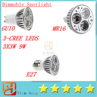 New GU10 MR16 E27 E26 E14 B22 GU5. 3 3X3W 9W Led Lamp Spotlig...