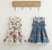 baby girl kids vintage flower floral tutu dress ribbon bow b...