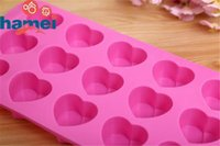 Fashion Silicone Heart Chocolate Molds Jelly Ice Molds Cake ...
