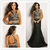 Mermaid Evening Gowns with Luxury Rhinestone Crystal 2015 Ne...