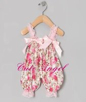Baby girl infant toddler lace romper satin romper jumpsuits ...