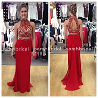 2015 New Fashion Two Piece Prom Dresses For Sweet 16 Teens G...