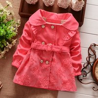 baby girl kids lace coat trench coat cardigan blazers zig za...