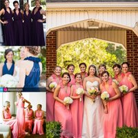 2015 Chiffon Long Bridesmaid Dresses For Arabic Saudi Arabia...