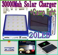 30000mah solar camping light charger 20 led 30000 mah power ...