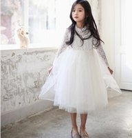 NEW ARRIVAL baby girl kids lace dress lace jumper crochet ho...