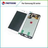 Pour Samsung Galaxy i9600 S5 Blanc et noir whiteTouch écran LCD remplacement numériseur avec expédition rapide DHL