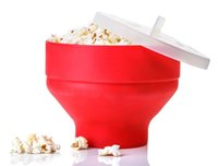 Pop Corn Bowl With Lid Microwaveable Popcorn Maker Microwave...