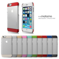 For iPhone 6 Case Motomo Hybrid Transparent Clear PC Metalic...