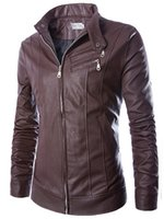 2014 fall autumn New leather jackets for men casual slim car...