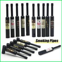 Nouveau Populaire métalliques Pipes fumeurs aluminium Pipes portable et détachable winebottle Pipes 78mm Petite Taille Pipe de Verre