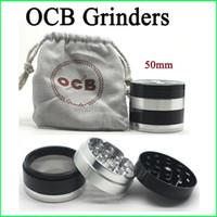 Top qualité OCB Grinders 4 couches à base de plantes Grinders en alliage d'aluminium Grinder 50mm Métal Grinders VS sharpstone Grinders Grinders Herb DHL gratuit