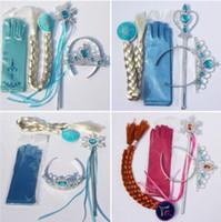 4pcs set Princess Elsa Anna Girl Magic Wand Crown Brithday G...