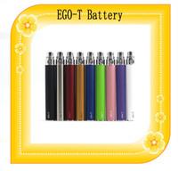 Ego t de la batería 650mAh 900mAh batería de 1100mAh t ego 9 colores para las series de ego e kit de cigarrillos ego envío de DHL