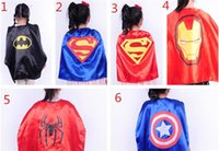 Superhero cape 50cm 6 styles back Super Hero Costume for Chi...