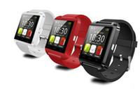 Горячие продажи U8 Bluetooth Смарт часы наручные часы U8 SmartWatch для iPhone 4 4S 5 5S Samsung S4 S5 Android телефонов Смартфоны Свободная перевозка груза DHL