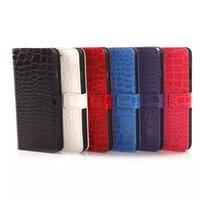 Pour iphone7 / 7plus Crocodile raye 6S 6plus Cas de luxe de couverture d'iPhone de cuir de mode pour l'iphone 6 4,7 5,5