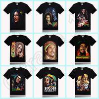 100PCS HHA597 2016 BOB MARLEY imprimir estilo novo estilo roda rock t shirt rocha estilo promoção preço 66 design