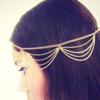 Hot Selling New Head Chain Pieces Bohemian Headpiece Headban...