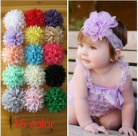 16 Color Baby Chiffon Hair Flowers Christmas Colorful Floral...