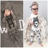 2 Design Baby Pajamas 2015 new children Autumn winter Cotton...