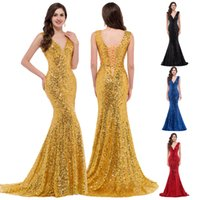 Grace Karin Stock Sequins Shinning Deep V Neck Bridesmaids D...