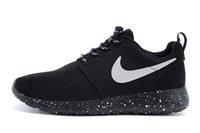 Black Nike Rosherun Running Shoes Mens Womens Lightweight Ro...