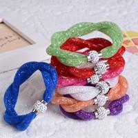 Promotions! Nouveau Infinity Bracelet Filles Double Stardust Bracelet Bijoux Perles De Cristal Magnétique Broche Weave Bracelets Antique 30PCS Vente