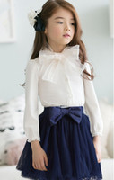 AmberBear Spring Baby Girls Gentlewomanly Cotton Shirts 2015...