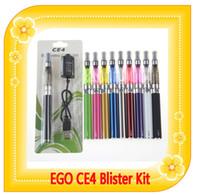Kit de cigarrillo electrónico EGO CE4 Atomier 650mAh 900mAh 1100mAh cigarrillo electrónico establecido envases de plástico EGO CE4 Kit CE4 e cig