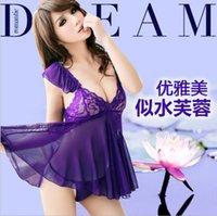 Sexy Lingerie Lace Mini Dress Underwear Babydoll Sleepwear+ G...
