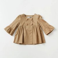 NEW ARRIVAL baby girl kids Spring Fall tench coat blazers co...