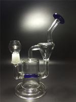 2016 Free Shipping Glass recycler La plus nouvelle main soufflé verre Bong tuyau d'eau en verre avec Perc Percator Taille: 18.8mm