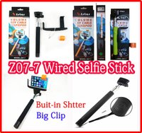 Z07- 7 2 in 1 Wired Selfie Stick Monopod With 3. 5mm Cable Bui...