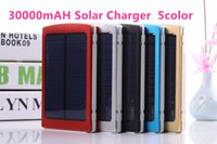 Wholesale - 30000mAh Solar charger Battery Panel external Du...
