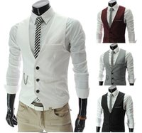 Mens Vests Casual Slim Mens vest Mens Casual Suits Slim Fit ...