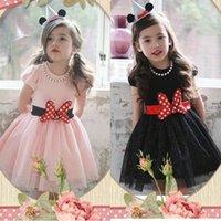 2016 Summer Children Clothes Minnie Mouse Beading Dress Kids...