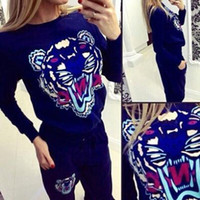 New spring style sweat shirt Print tracksuit women Long Pant...