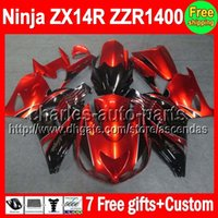 7gifts For KAWASAKI NINJA ZX14R 06- 13 Orange black ZX 14R 06...