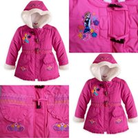 Free shipping 5pcs lot 2014 new frozen coat cotton- padded cl...