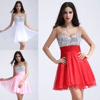 Custom Made Short Chiffon Homecoming Dresses 2015 Cheap Shee...